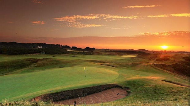 Tee time... the eighth hole at Royal Troon.