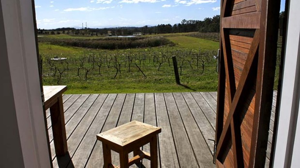 Look out ... the Longhouse overlooks a 10-hectare vineyard.