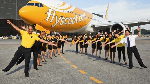Scoot's cheery crew members.