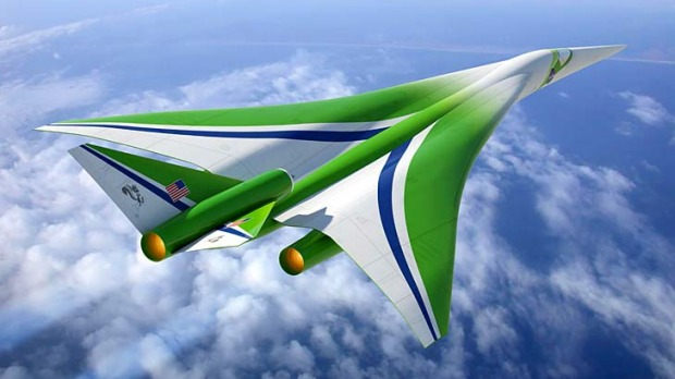 'Son of Concorde' ... our ability to fly at supersonic speeds over land in commercial aircraft depends on the effort to reduce the sonic boom, says NASA.
