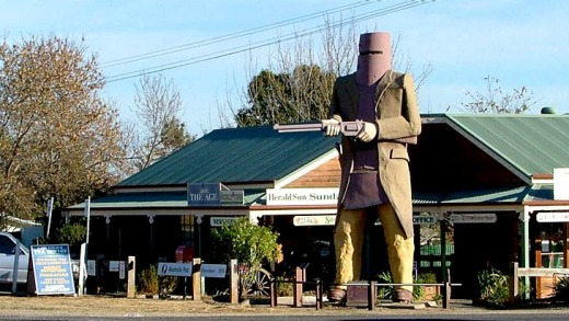 Kelly country ... Ned's big in Australia.