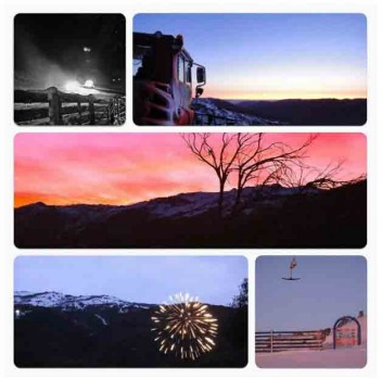 Thredbo from dusk till dawn by @chezwalk