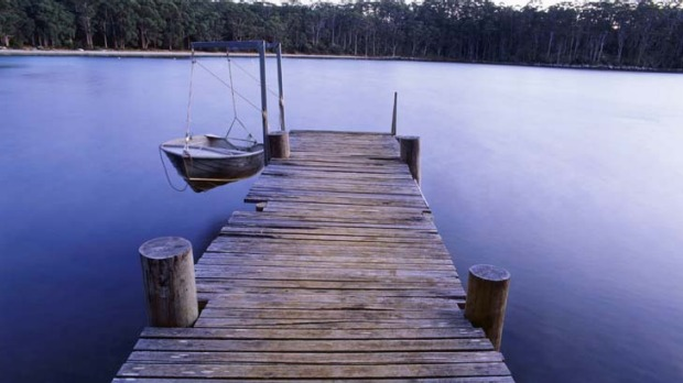 Peace and solitude ... the calm waters of Port Arthur.