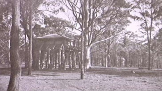 Water reservoir at Menangle photographed in the 1930s