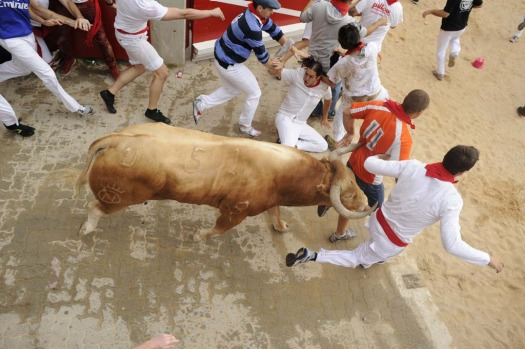 Spain's San Fermin festival in Pamplona kicks off, featuring its famous 'Running of the bulls'. Last year 20,500 people ...
