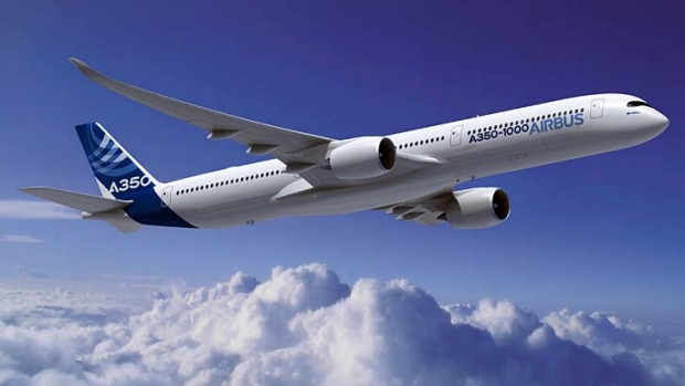 Airbus says the future 350-seat carbon-composite A350-1000 passenger jet will be significantly more efficient than ...
