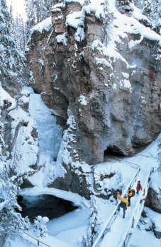 Johnston Canyon, Canada. Here's the trick: go in winter. I'm sure the canyon is spectacular in summer as well, but in ...