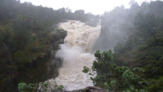 Upper falls during flood March 2012