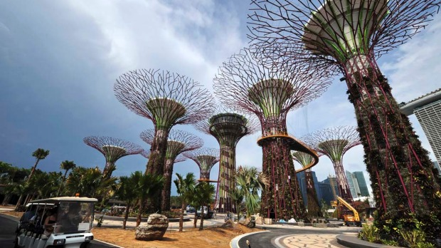 Stepping into Singapore's Gardens by the Bay feels like stepping into Pandora, the verdant wonderland depicted in James Cameron's epic Avatar.