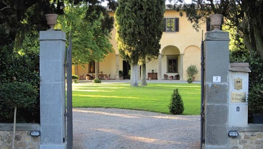 Magical ... the 400-year-old Villa il Poggiale, just outside Florence.