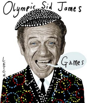Getting cockney... British comedian Sid James was famous for his language games.