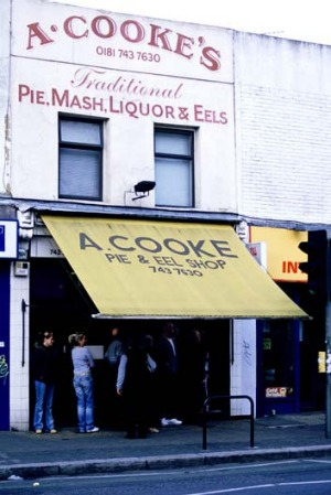 A. Cooke's Pie and Mash in Shepherds Bush is one of about 30 that remain in London.