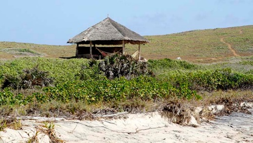 A beach hut at the Kiwayu Safari Village resort in Kenya, where gunmen killed British man David Tebbutt and kidnapped ...