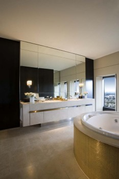 Imperial Suite, Sofitel Melbourne. How much: $4000. The bathroom has a circular spa tub ? pretty standard for this type ...