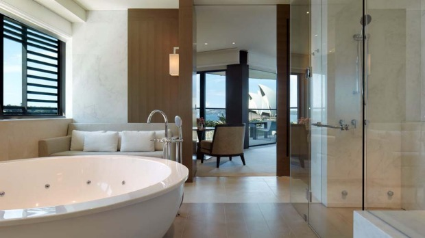 Sydney Suite, Park Hyatt, Sydney. How much: $16,000 per night. Wherever you stand or sit in the suite, the floor to ceiling glass walls offer gobsmacking harbour vistas. If you're lying in bed or lounging on your private terrace, you'll have postcard-perfect views of the Opera House.
