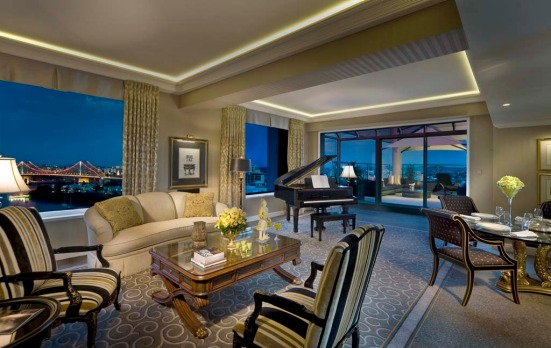 Stamford Suite, Stamford Plaza, Brisbane. How much: $4000. The Stamford Suite is definitely old-school glamour: think ...
