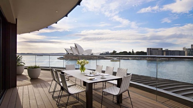 The Sydney Suite is spacious – 350 square metres, complete with indoor/outdoor dining for up to eight people, a fully-equipped kitchen, five TVs, a sauna, a fireplace, and 24-hour butler service.