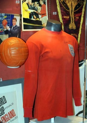 An England 1966 World Cup shirt.