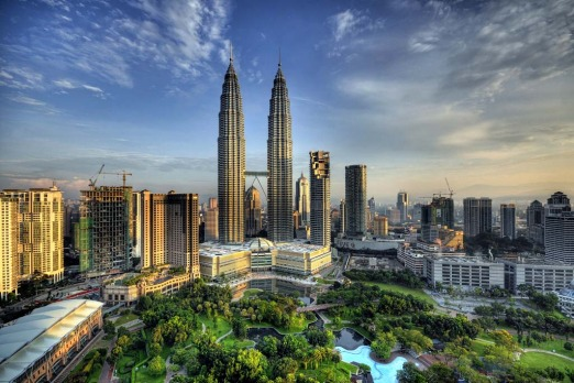 The Petronas Twin Towers are the world's tallest twin towers.