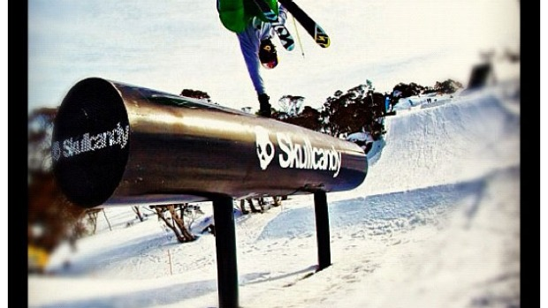 Russ Henshaw doing what he does best @perisher_ski_resort
