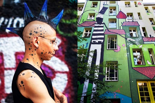Friedrichshain: <i>today you can hold your tattooed, pierced, mohawked head up high</i>