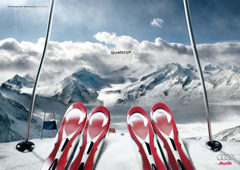 Four skis are better than two for Audi.