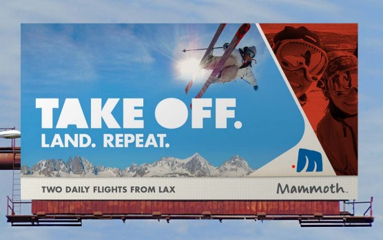 Mammoth Mountain billboard in Los Angeles.