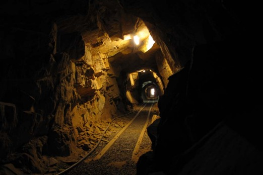 The tunnel at the Bald Hill Mine in Hill End, central NSW.