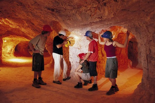 Coober Pedy in South Australia is the centre of the opal-mining boom.