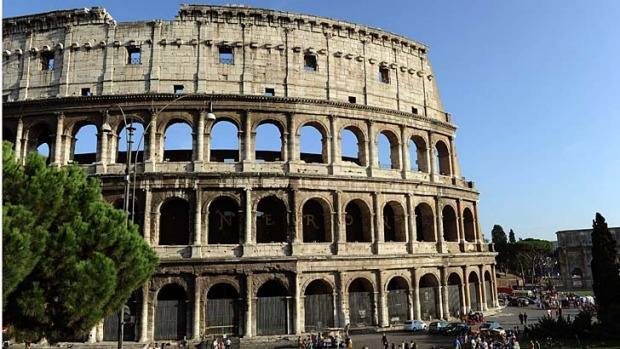 A barrier will be placed around Rome's famous Colosseum to protect tourists from falling fragments.