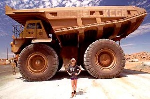 Superpit Kalgoorlie mine truck