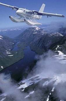 On a typical week-long cruise, you can enjoy a scenic flight over the vast ice fields at Skagway.