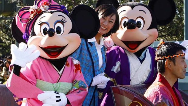Familiar faces ... Tokyo Disney Resort.