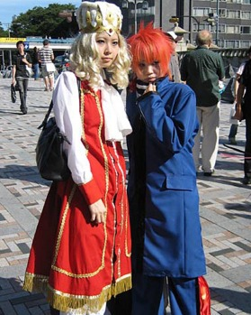 Tokyo's teenagers are known for dressing in unusual outfits, particularly around the Harajuku district.