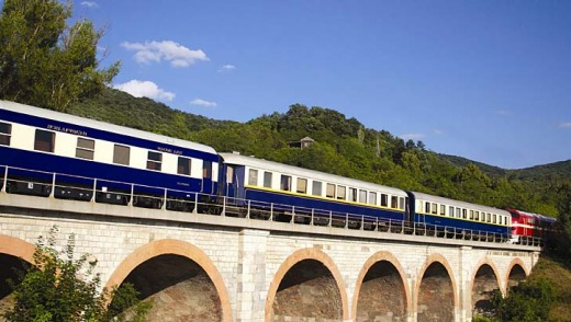 The Danube Express from Budapest to Istanbul.