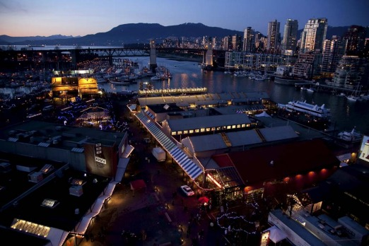 Granville Island, an artificial island, was once an industrial hub.