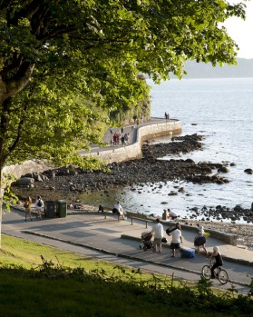 Stanley Park is more than four square kilometres in size and home to half a million trees.