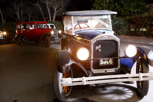 Guests are transported to the dinner in Clive Palmer's vintage cars.