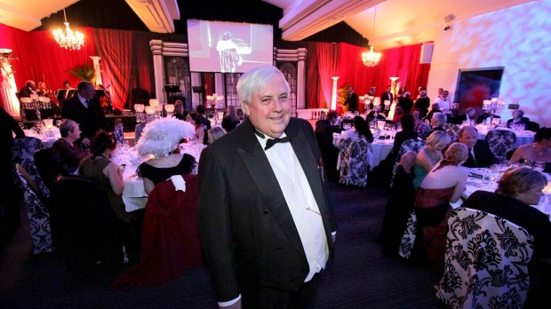 Clive Palmer  at the Captain's Atlantic Dinner.