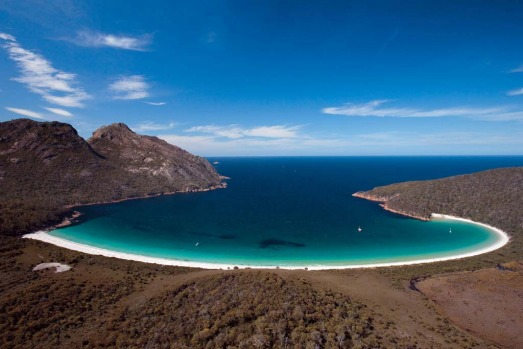 Wineglass Bay, Freycinet Peninsula. To do Freycinet on the cheap, camp near Coles Bay for $13 a night.