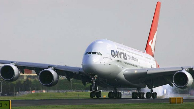 A Qantas A380. One of the airlines superjumbos took off without the correct speed readouts, a safety investigation has found.
