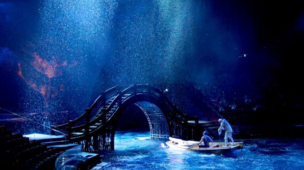 Dream time ... a scene from the spectacular House of Dancing Water at the City of Dreams.