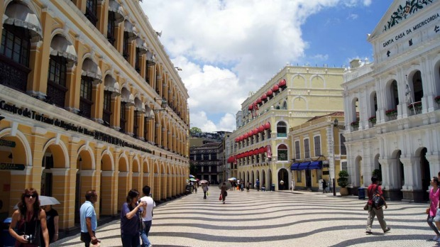 The Portuguese influence in Macau can been seen in the architecture in places like Senado Square in the centre of town.