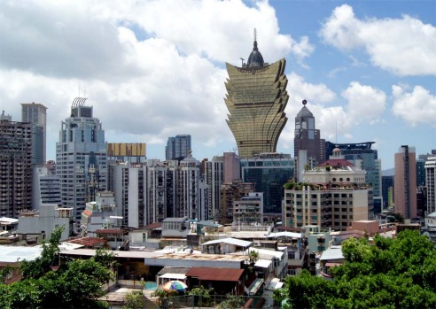 The Grand Lisboa, rated by some as one of the ugliest buildings in the world, looms over Macau.
