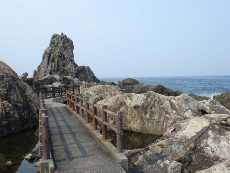 The Muroto geopark in Japan.