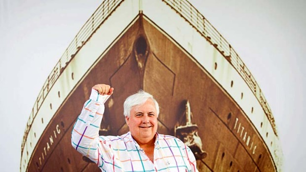 Clive Palmer will unveils the designs for Titanic II at a gala dinner on December 4 on the retired aircraft carrier USS ...