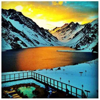 Week eight, the lake at Portillo in Chile by @jessejhoffman