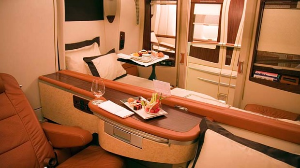 On board Singapore Airlines' A380 superjumbo: The original first class cabin on Singapore Airlines' A380 superjumbos ...