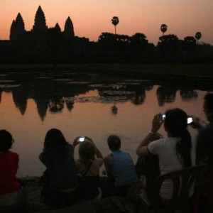 Despite a big night out, all but one of the group makes it out to Angkor Wat to watch the sunrise.