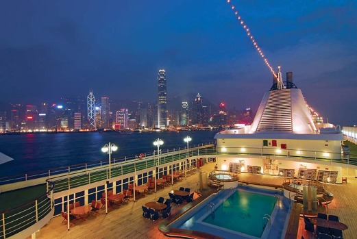 Silver Whisper cruise ship will take in the luminous landscape of the Hong Kong skyline in 2013.